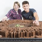 Maze Runner Maze made from Chocolate and Chocolate Biscuits