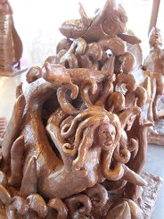 chocolate swimming sculpture-web